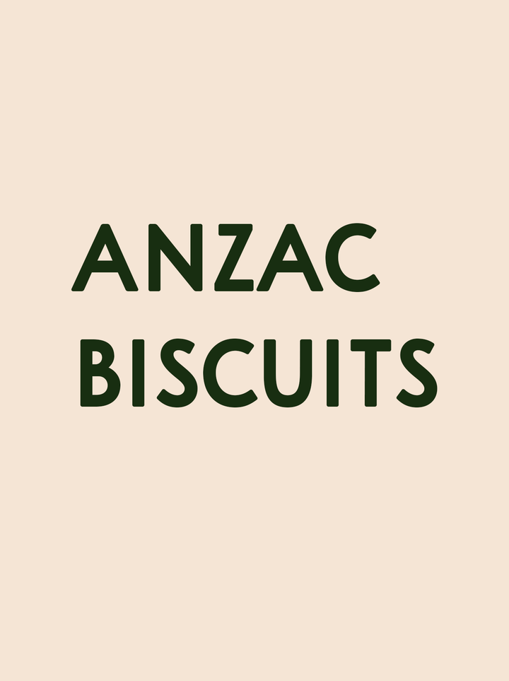 Wolf Coffee Anzac Biscuits
