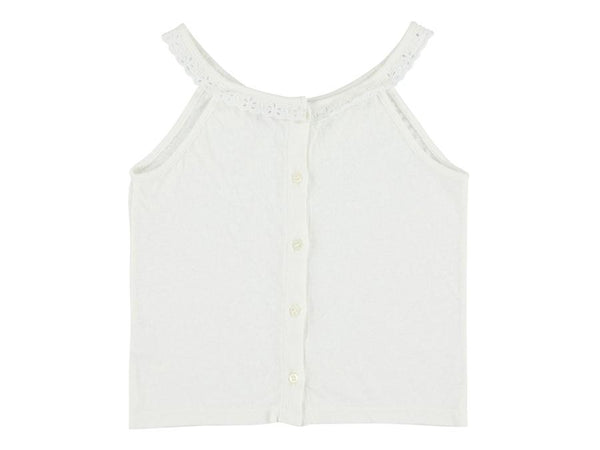 Lace Jersey Top - White