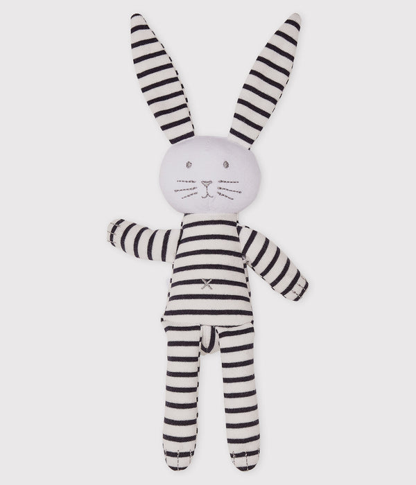 Striped Bunny DOUDOU Toy - White/Navy - 5348403