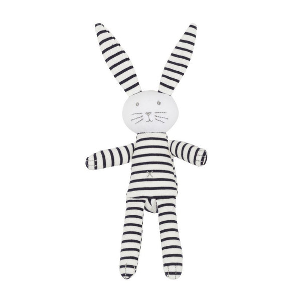 Small Stuffed Bunny - Black and White