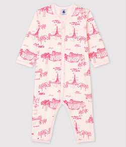 Paris Je T'aime Toile Print Footless Sleeper - Current Flower -A00PJ01