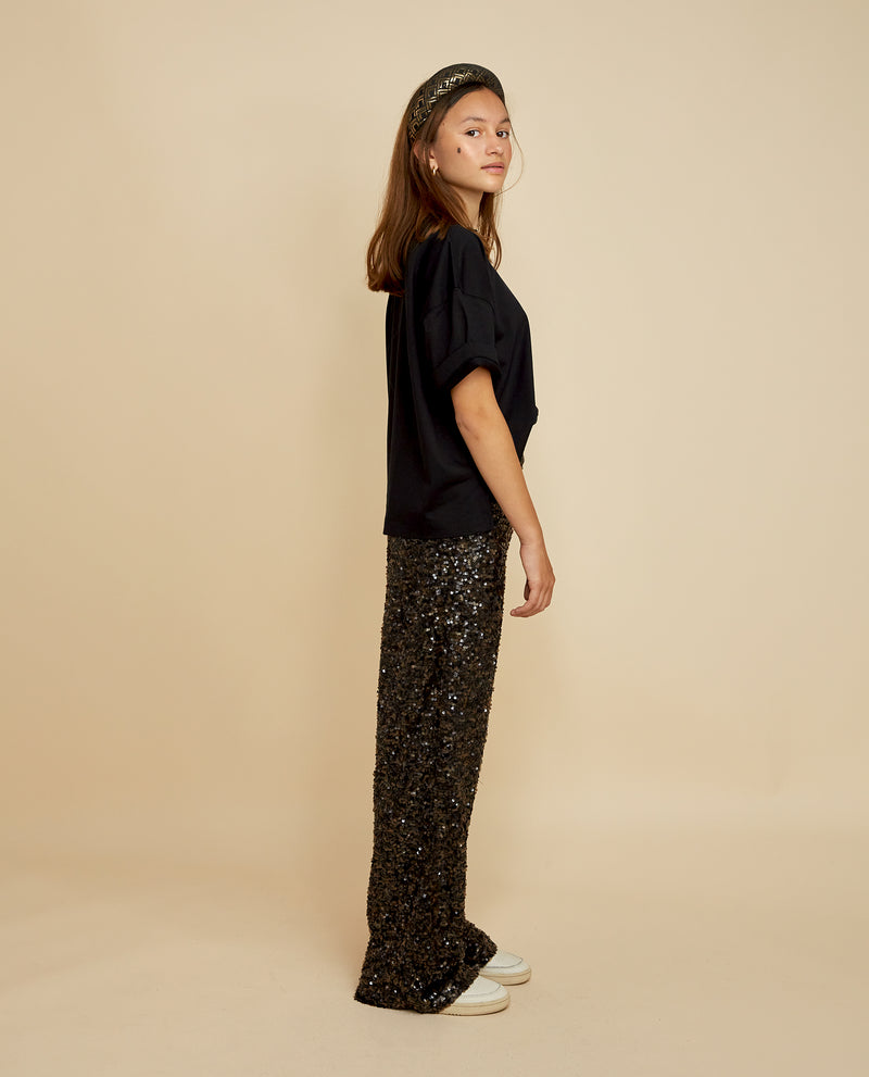 Lilo Sequin Pants - Black