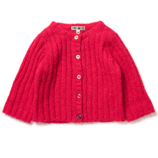 Ribbed Cardigan - Sakura Rose