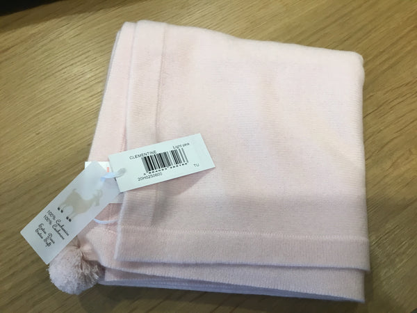 Clementine Cashmere Baby Blanket - Light Pink