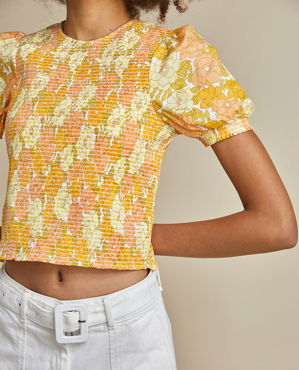 Lina Top - 70's Floral