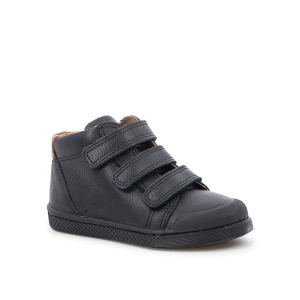 Velcro Leather High Top Sneaker