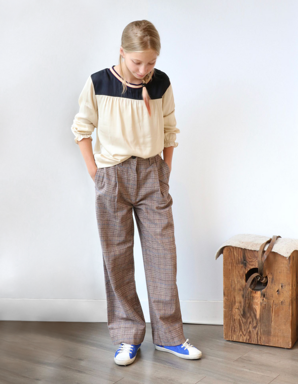 PRINGLE WIDE LEG PANTS - CHECK B