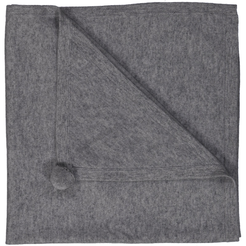 Clementine Cashmere Baby Blanket - Heather Grey