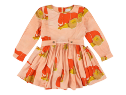MAY ELEPHANT PRINT DRESS - ROSE PINK
