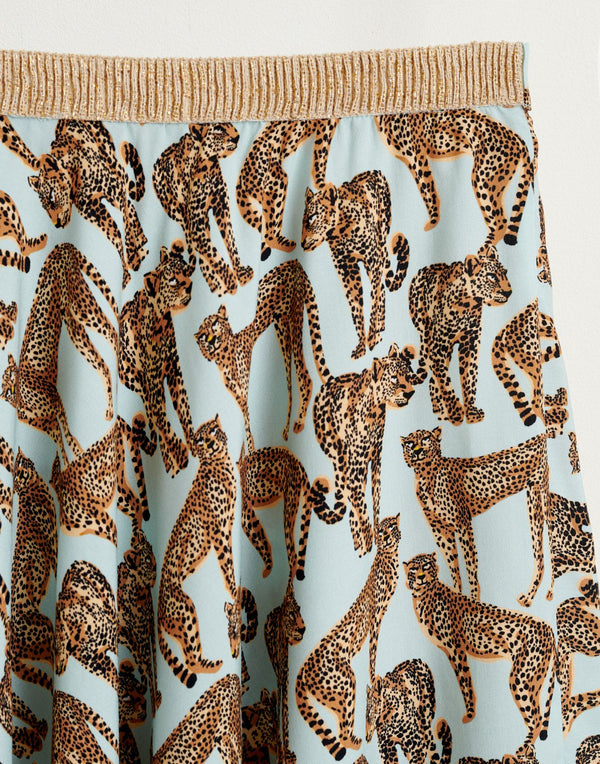 POWER Cheetah Print SKIRT - Blue