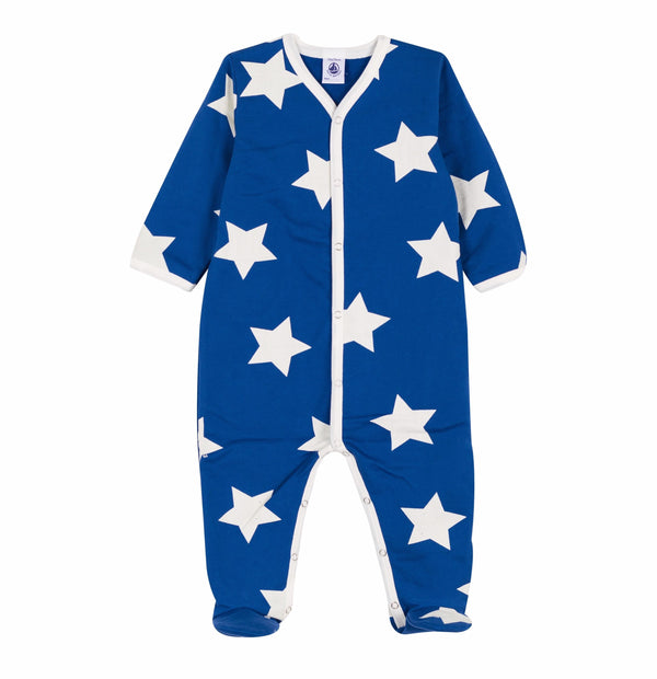 Stars Print Blue Footless Sleeper - 5614801
