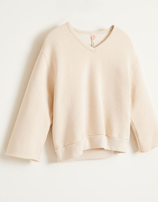 "FADO ""SMILE"" SWEATSHIRT - SUGARCANE"