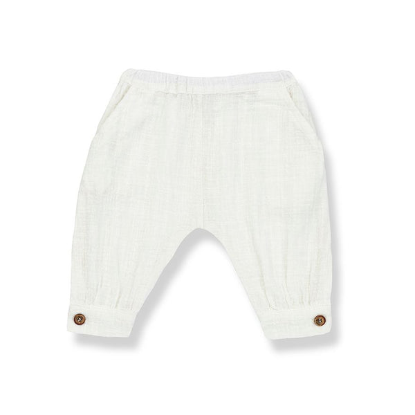 MARGA gathered pants-off-white