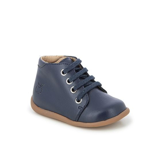 Baby's First Walkers Lace Up Boots - Navy