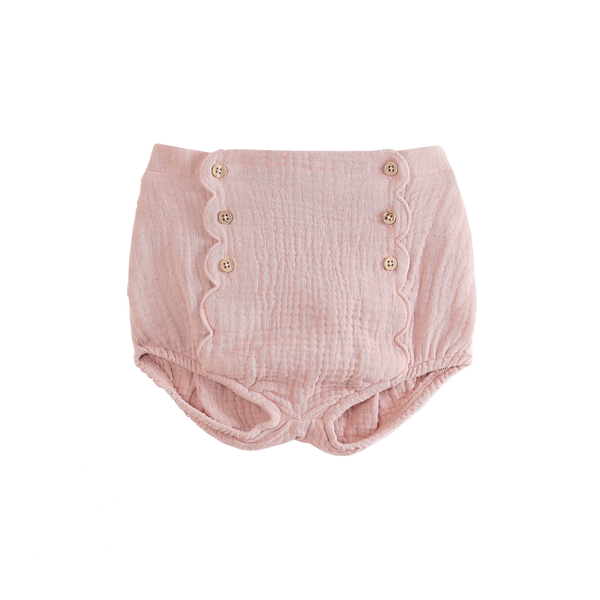 Baby Bloomers with Buttons Detail - Blush