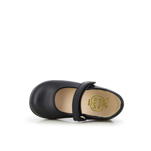 Tetel Classic Leather Mary Janes - Black