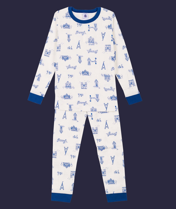Parisian Building Print Pyjama Set - 5758001