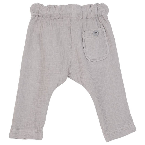 Cotton Gauze Pants - Grey
