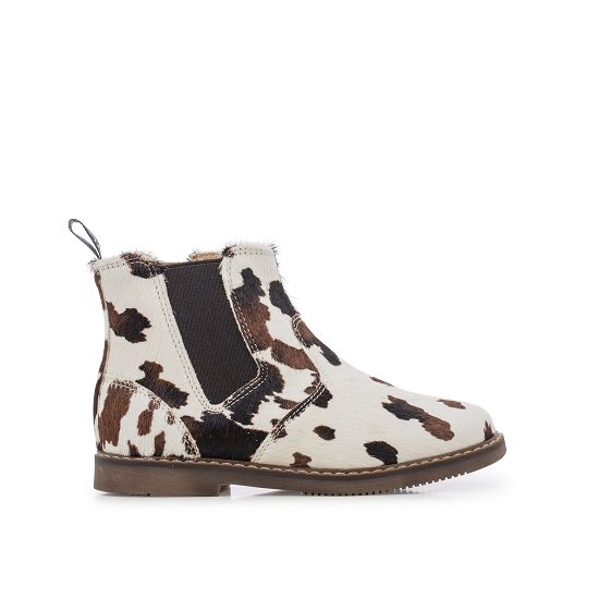 CITY JODZIP Cow Print - BROWN/WHITE/PLATINE