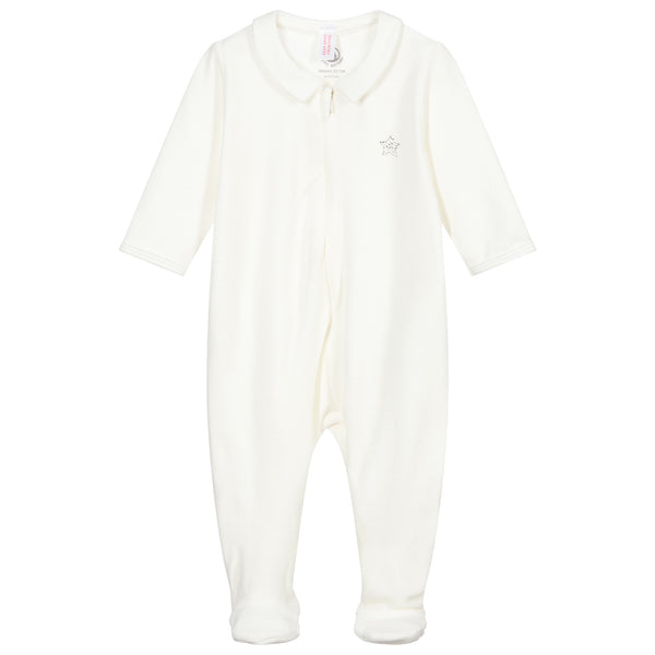Velour Sleepsuit - Marshmallow - 5572201