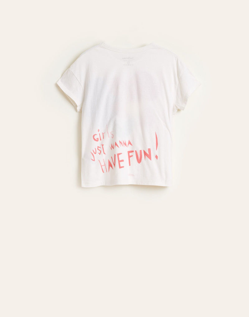 "AYOA11 ""Girls Just Wanna Have Fun"" T-shirt - VINTAGE WHITE"