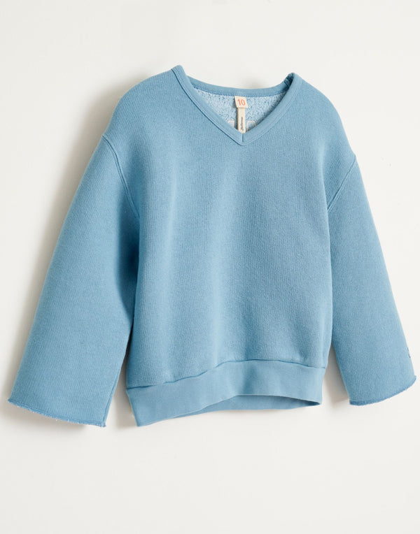 "FADO ""Smile"" SWEATSHIRT - BLUE EYES"