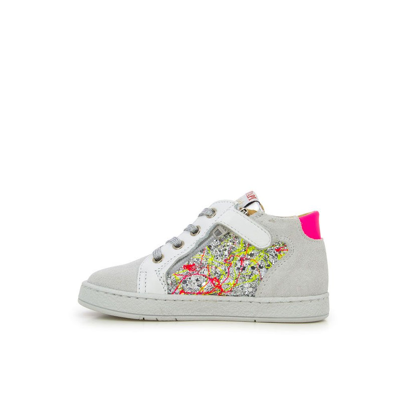 Mousse Zip High Top Sneakers - Silver Glitter