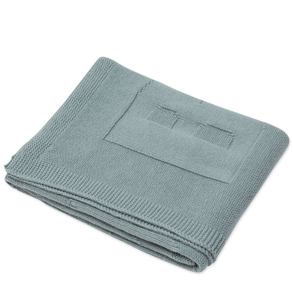 Logo Knit Baby Blanket - Sage Green