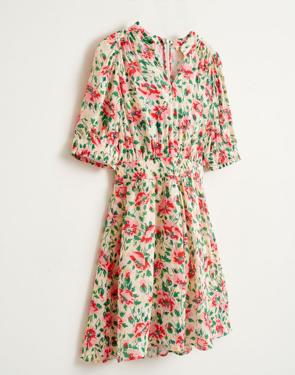 PINKO Floral DRESS - Pink/Green