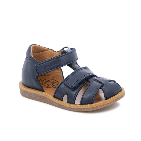 Poppy Boy Closed Heel Adjustable Sandal - Navy