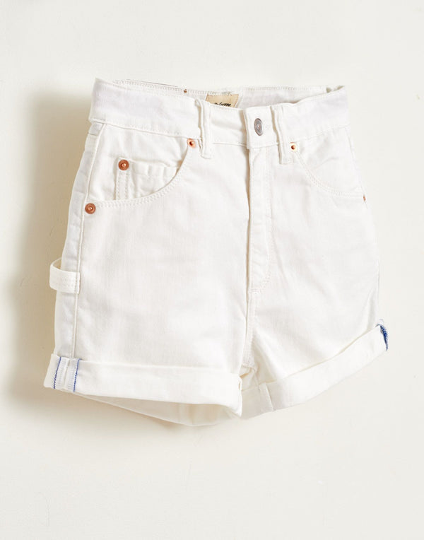 PETITE11 Denim SHORTS - OFF WHITE