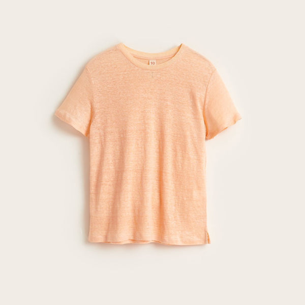 MIO11 Linen T-SHIRT - FLAMINGO