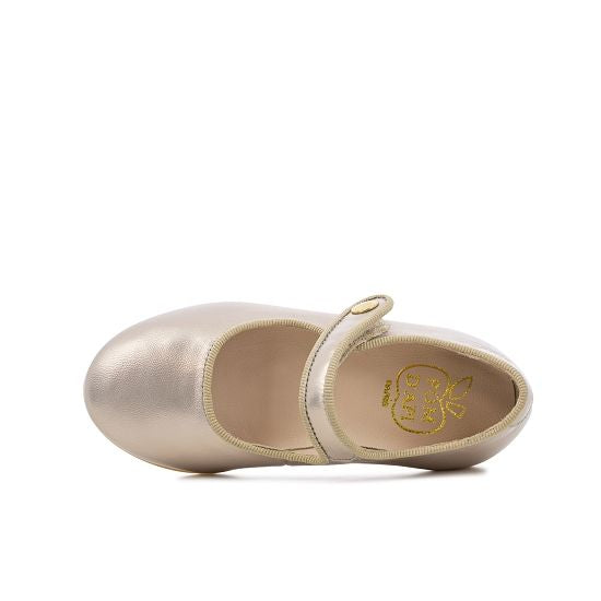 Daisy Baby Leather Mary Janes - Metallic Gold