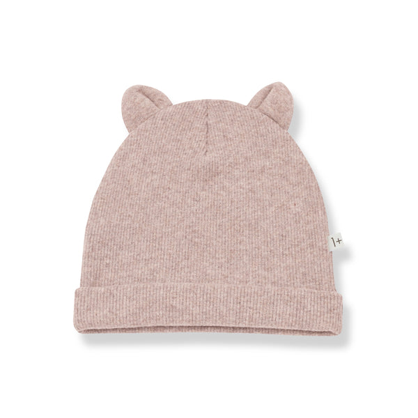 MULL Beanie with Ears - rose