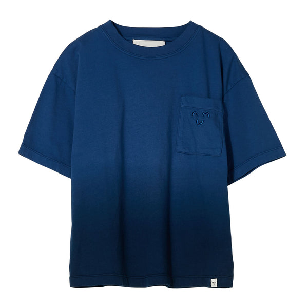 KING Short Sleeves T Shirt - Work Blue Dip Dye