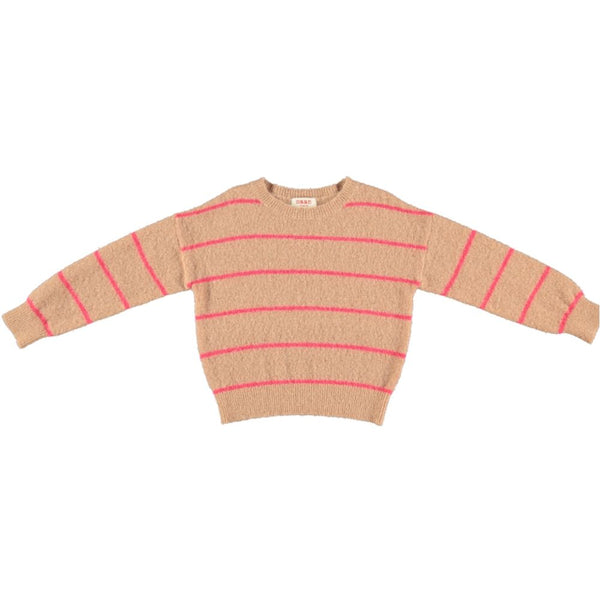 PESCE Knitted Striped Sweater - Latte
