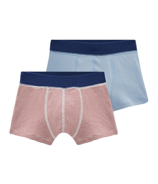 2 Pack of Striped Boxers - Red/Blue