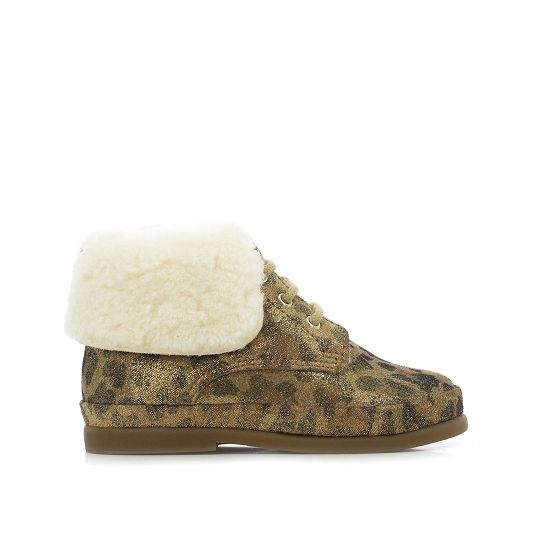 FAN-FAN FUR Trimmed Bootie - NATUREL/IVOIRE
