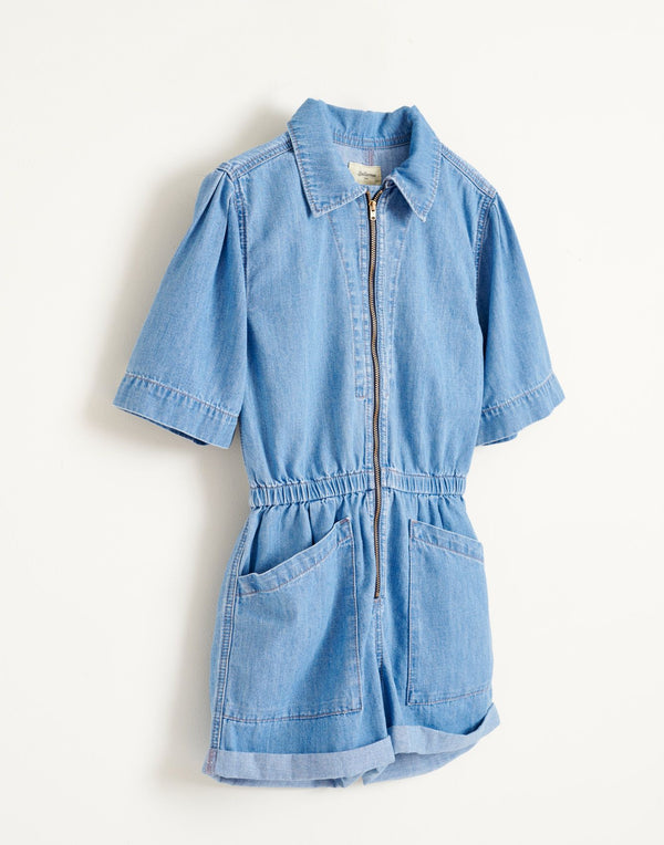 PILOTS Denim JUMPSUIT - BLEACHED