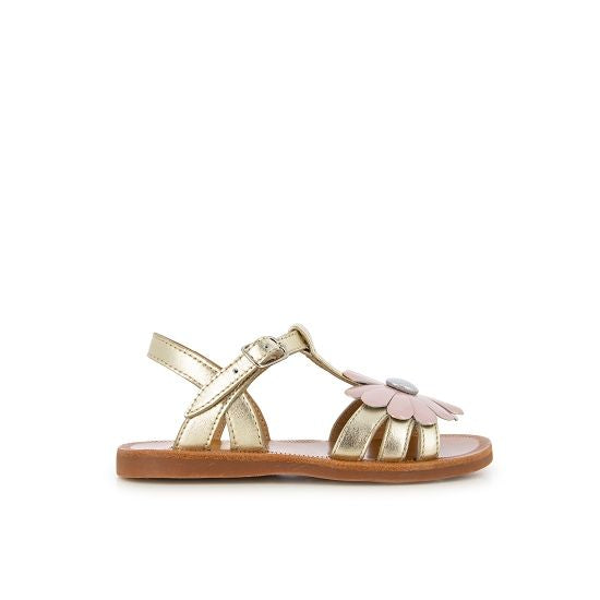 Plagette Big Flower Sandal - Gold