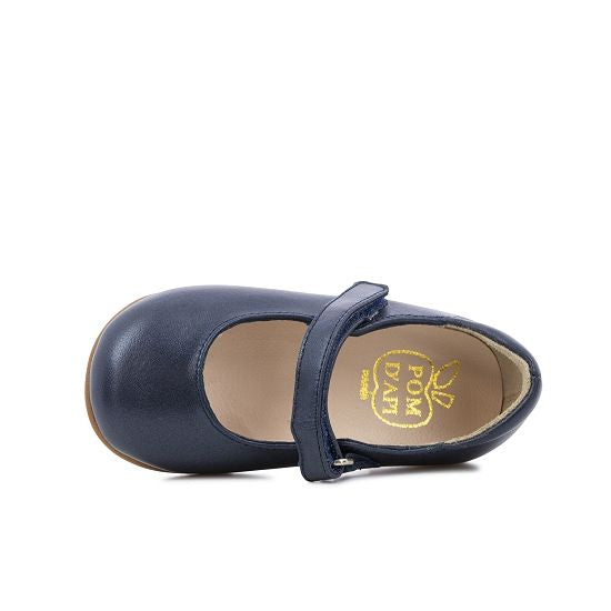 Tetel Classic Leather Mary Janes - Navy