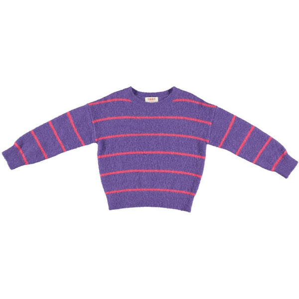 PESCE Knitted Striped Sweater - Purple