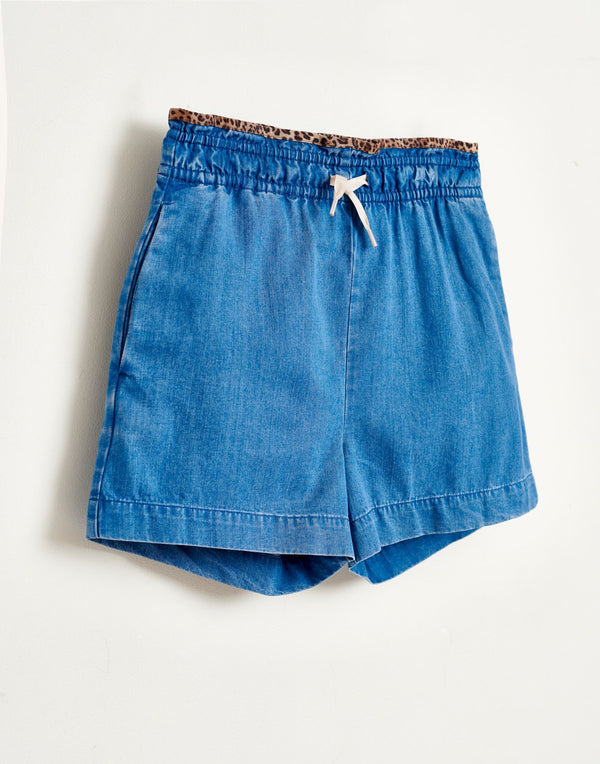 AVA Chambray SHORTS - STONE WASH