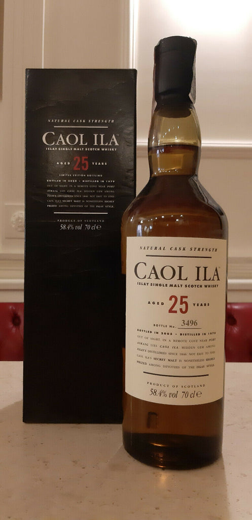 CAOL ILA AGED 25 YEARS Bottle No. 3496