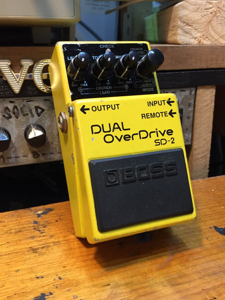 BOSS - SD-2 - Dual Overdrive with Lead / Crunch Settings.