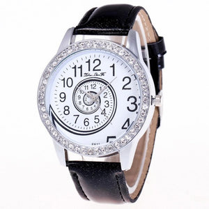 Luxury Brand 2019 Women Quartz Watch Leather Band Rhinestone