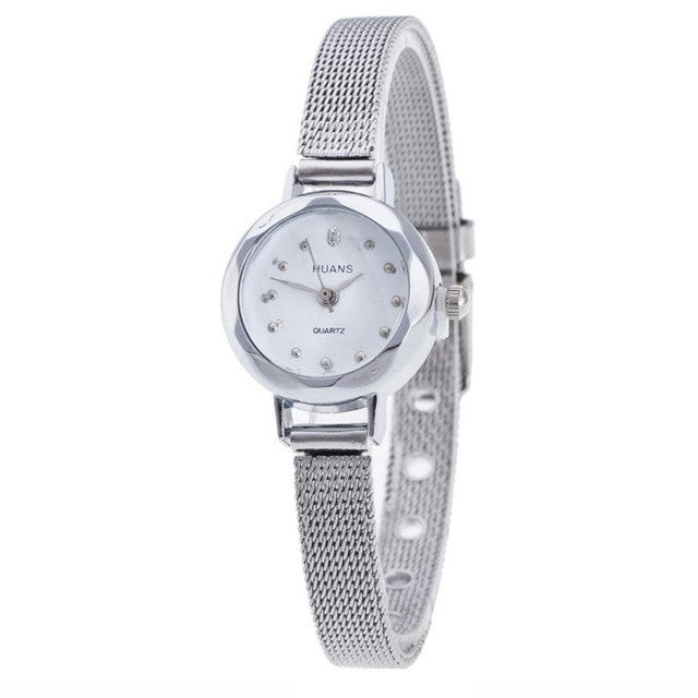 High Quality GENVIVIA 2019 Women Ladies Stainless Steel Mesh Band Waterproof