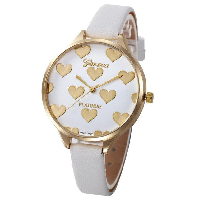 2019 Ladies Geneva Watches Heart Fashion Elegant Women Dress