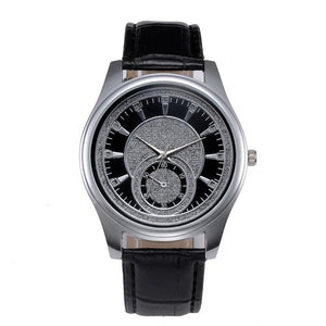 New Mens Watches Top Brand Luxury Watches Leather Stainless Steel Dial Business Quartz