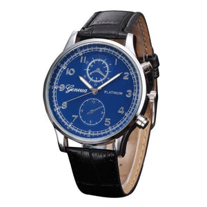 2019 Mens Watches PU Leather Quartz Watch Men Business